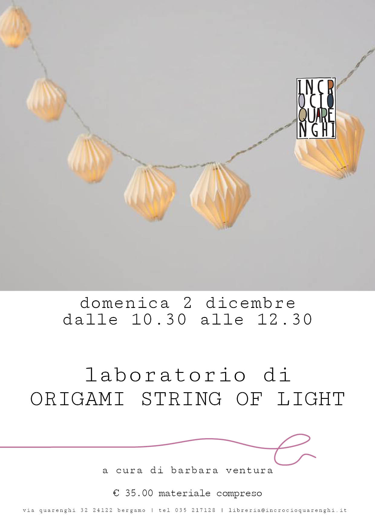 Origami String of Light: laboratorio con Barbara Ventura